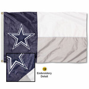 Dallas Cowboys State of Texas Applique and Embroidery Nylon Flag