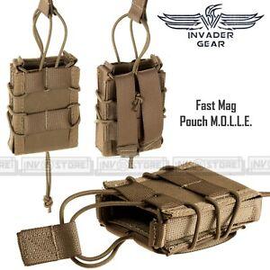 Porta Caricatore Singolo Fucile Fast Mag 5.56 INVADER GEAR Sistema MOLLE Coyote