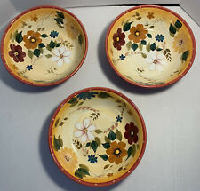 "Oneida Kitchen Sunset Bouquet Serving Bowl 9.25"" Round Set Of 3"