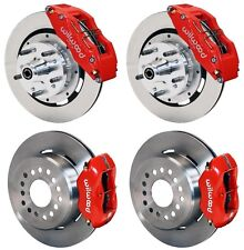 "WILWOOD DISC BRAKE KIT,1971-1974 AMC,12"" ROTORS,6/4 PISTON RED CALIPERS"