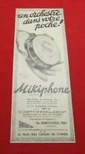 ADVERTISING PUB PUBLICITE ANCIENNE ADVERT 2.3 MIKIPHONE INNOVATION UN ORCHESTRE