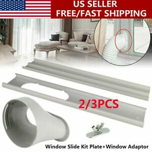 Window Adaptor 2/3PCS Kit Plate/Exhaust Hose/Tube For Portable Air Conditioner