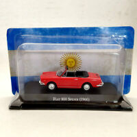1:43 IXO Fiat 800 Spider 1966 Red Diecast Models Limited Edition Collection