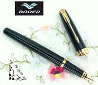 free ship BAOER 388 rollerball pen shining black + 2 pcs POKY refills BLUE ink