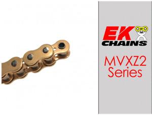 EK MVXZ2-520 MOTORCYCLE CHAIN 120 LINKS TENSILE STRENGTH 9000 lbs GOLD HONDA