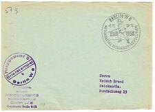 DDR matrosenstempel antes ersttag arista. servicio carta HPA Berlín W 8 1958 rar