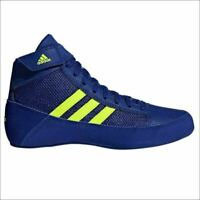 Adidas Havoc Kids Wrestling Shoes Boxing Boots Trainers Childrens Navy Blue HVC