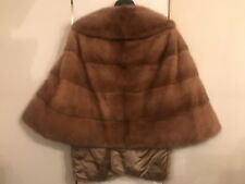 Vintage PETER DUFFY Luxurious Stunning Mink Stole Genuine Natural Light Brown