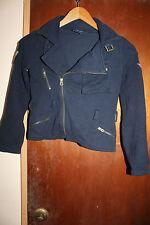 Ralph Lauren Girls Dark Blue Jacket Sweater Size M 8-10