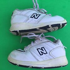 NEW BALANCE 500 kid boy's fashion white walking shoe size--6.5
