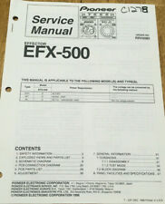 PIONEER EFX-500 KUC WY RL EFFECTOR ORIGINAL SERVICE REPAIR MANUAL
