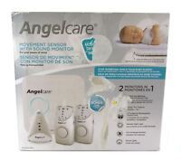 Angelcare Movement Sensor w/ Sound Monitor AC605-2PU 2 Parent Units Night Light