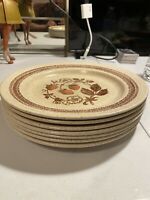 """Homespun Stonecast by Churchill 10"""" Dinner Plate Wild Strawberry Lot Of 7 Plates"""