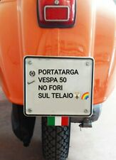 Kit Porta Targa Portatarga x Vespa 50 NO FORI / FORARE BUCARE IL TELAIO_vespa