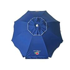 Tommy Bahama 6 ft. Steel Tilt and Sand Anchored Beach Umbrella in Navy Blue