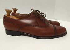 Edward Green for Paul Stuart Mens Brown Cap-Toe Oxford Brogues Shoes Size 10E