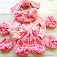 Girls Pink Poodle Puppy Dog Plush Halloween Costume Express 6 Pcs Size XS 4-5