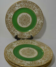 K & A KRAUTHEIM SELB BAVARIA GERMANY GOLD PLATED DINNER PLATES /4