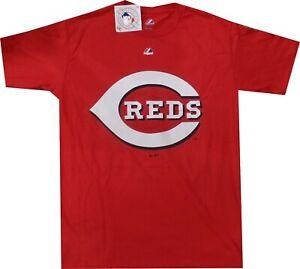 Cincinnati Reds Majestic Bigger Raised Logo T Shirt Closeout New tags