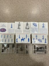 The Americana Pewter Collection Lot Of 3. Ah19, Ah45, Ah09 Solid Pewter Figures