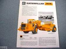Caterpillar 627B Scraper Brochure 1980
