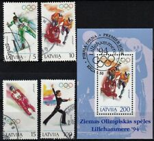1994 Olympic Games - Lillehammer, set of Used stamps + minisheet! Look!
