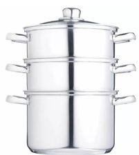 Kitchen Craft 20cm Stainless Steel 3 Tier Steamer