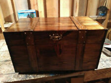 HANDCRAFTED FLAT TOP  TREASURE CHEST,HOPE CHEST, TRUNK, BLANKET BOX