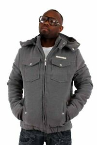 Rocawear, Men's Designer Padded Hooded Jacket, Coat, Bomber, Baseball, Hoodie
