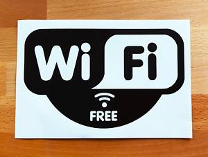 WIFI FREE STICKERS VINYL DECALS CAFE WINDOW PUB RESTURANT BAR SHOP A4 A5 A6