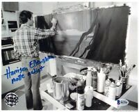 HARRISON ELLENSHAW SIGNED 8x10 PHOTO MATTE ARTIST STAR WARS OPX RARE BECKETT BAS