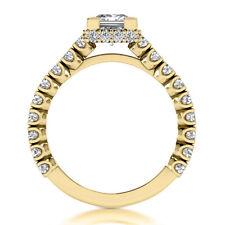 2.28 Carat Princess Cut Diamond Engagement Ring 14k Yellow Gold H SI1