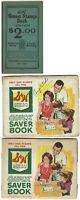 S & H Green Stamps Vintage $2.00 UnUsed Booklet + 2 Almost filled Booklets
