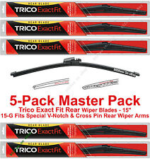 "5-Pack Trico 15-G (x5) 15"" Rear Wiper Blades Fit V-Notch / Cross Pin Wiper Arms"