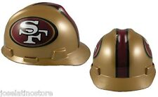 MSA V-Gard Cap Type San Francisco 49ers NFL Hard Hat Pin Type Suspension