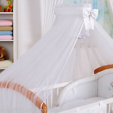 STUNNING /BABY/COT /COT BED BIG CANOPY DRAPE/480cm wide +  HOLDER / ROD/ CLAMP