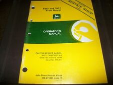 ORIGINAL! John Deere Dealer f912,f932 front mower tractor operators manual,deale