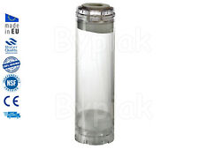 """New empty refillable clear cartridge 10"""" RO Phosphate DI GAC Cataly Carbon"""