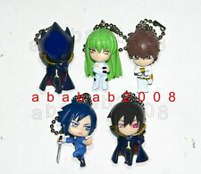 Bandai Code Geass Lelouch figure keychain gashapon (full set of 5 figures)