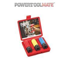 "Milwaukee 4932451568 3 Piece 1/2"" Drive ShockWave Impact Socket Set"
