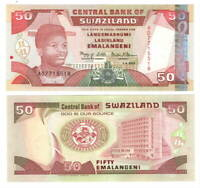 UNC eSwatini SWAZILAND 50 Emalangeni (2001) P-31a Banknote Paper Money