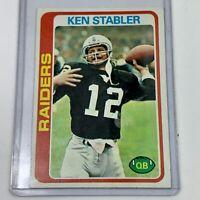 1978 Topps Football Ken Stabler #365 Very Nice Card