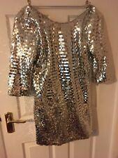 Topshop Size 14 Petite Sequin Dress