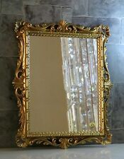 Espejo de pared Dorado Adornos Barroco 43x37 pasillo C532