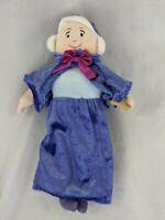 "Disney Cinderella Fairy Godmother Plush 10"" Stuffed Animal Toy"