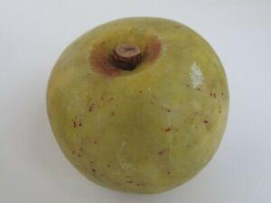 Vintage  Marble Stone Fruit Apple