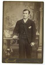 19th Century Gentlemen - Cabinet Card - Vintage Photography, Waltham, Mass