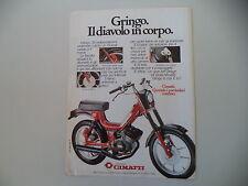 advertising Pubblicità 1980 CIMATTI GRINGO 50