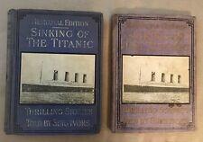 1912 JAY HENRY MOWBRAY SINKING TITANIC PLUS SALESMAN'S SAMPLE  WHITE STAR LINE