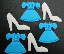 12 edible PRINCESS CINDERELLA THEME CUPCAKE cake topper DECORATION shoe dress